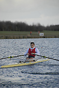 Eton, GREAT BRITAIN,  Brendan CREAN, M1X, moves away from the Start, GB Trials 3rd Winter assessment at,  Eton Rowing Centre, venue for the 2012 Olympic Rowing Regatta, Trials cut short due to weather conditions forecast for the second day Sunday  13/02/2011   [Photo, Karon Phillips/Intersport-images]