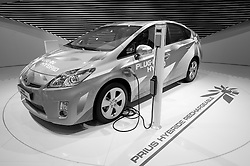 Toyota Prius plug-in hybrid car at Paris Motor Show 2010