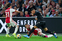 13-08-2019 NED: UEFA Champions League AFC Ajax - Paok Saloniki, Amsterdam<br />  Ajax won 3-2 and they will meet APOEL in the battle for a group stage spot / Nicolás Tagliafico #31 of Ajax, Noussair Mazraoui #12 of Ajax