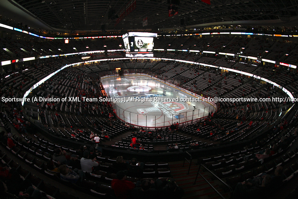 OTTAWA, ON - APRIL 12:  Inside the arena before game 1 of the first round of the NHL Playoffs  between the Boston Bruins and Ottawa Senators on April 12, 2017, at Canadian Tire Centre in Ottawa, On. <br /> <br /> <br /> (Photo by Jason Kopinski/Icon Sportswire)
