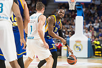 Real Madrid Fabien Causeur and Khimki Moscow James Anderson during Turkish Airlines Euroleague match between Real Madrid and Khimki Moscow at Wizink Center in Madrid, Spain. November 02, 2017. (ALTERPHOTOS/Borja B.Hojas)
