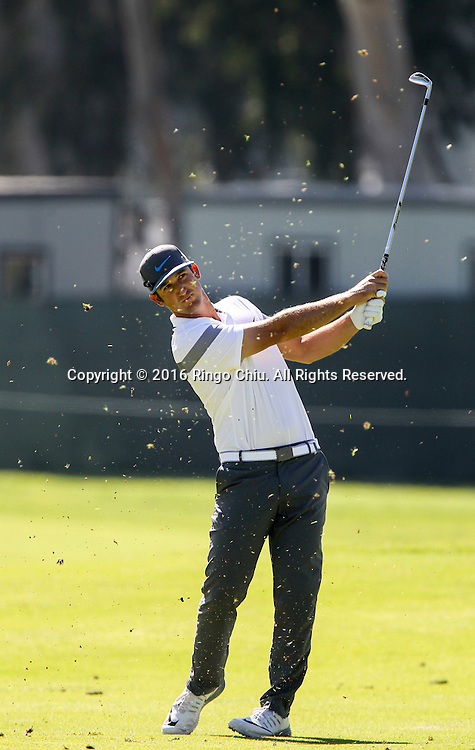 Kevin Chappell plays in the Final Round of the Northern Trust Open at the Riviera Country Club on February 21, 2016, in Los Angeles,(Photo by Ringo Chiu/PHOTOFORMULA.com)<br /> <br /> Usage Notes: This content is intended for editorial use only. For other uses, additional clearances may be required.