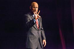 "Kevin Williams presents ""Everything I know I learned in kindergarten (and SEAL training).  TEDx Saint Thomas ""Small Place, Big Ideas"".  Jollek-Prior Hall.  Antilles School.  7 June 2015.  © Aisha-Zakiya Boyd"