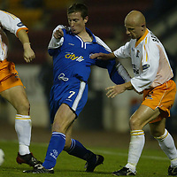 St Johnstone v Livingston..  05.11.02<br />Chris Hay has his shirt pulled by Phillipe Brinquin<br /><br />Pic by Graeme Hart<br />Copyright Perthshire Picture Agency<br />Tel: 01738 623350 / 07990 594431