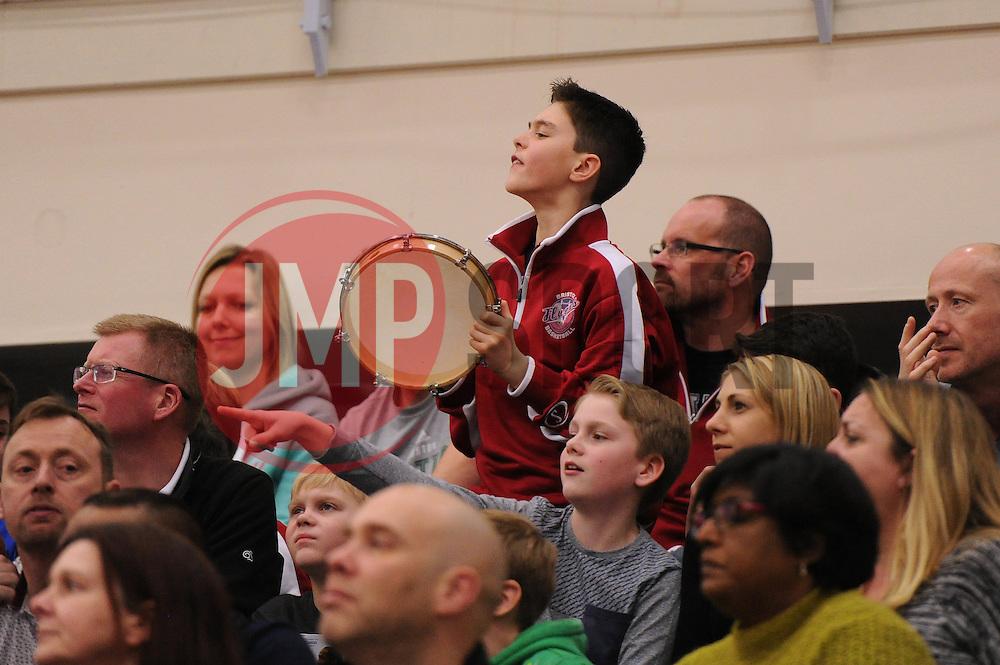 Bristol Flyers fan - Mandatory byline: Dougie Allward/JMP - 06/02/2016 - FOOTBALL - SGS Wise Campus - Bristol, England - Bristol Flyers v Newcastle Eagles - British Basketball League