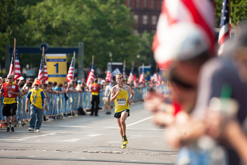 Boston Athletic Association 10K road race: Aaron Braun, first American male
