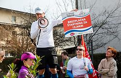 Ales Hostnik, Priprave za Ljubljanski maraton 2019 v sodelovanju s sezanskim Malim kraskim maratonom, on March 9, 2019, in Mostec, Ljubljana, Slovenia. Photo by Vid Ponikvar / Sportida