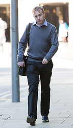 © Licensed to London News Pictures. 27/05/2015. London, UK. Former UBS and Citigroup trader Tom Hayes arrives at Southwark Crown Court in London. Hayes appears charged with eight counts of conspiracy to defraud in relation to alleged manipulation and rigging of the Libor rate. Photo credit : Vickie Flores/LNP