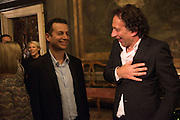 MATTHEW SLOTOVER;  MARK WADHWA, Okwui Enwezor and Vinyl Facorty hosted party at Ca'Sagredo, Campo Santa Sofia Venice Biennale, Venice. 5 May 2015