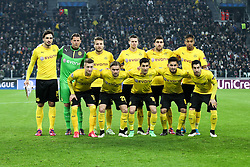 24.02.2015, Veltins Arena, Turin, ITA, UEFA CL, Juventus Turin vs Borussia Dortmund, Achtelfinale, Hinspiel, im Bild Teamfoto, Mannschaftsbild Dortmund // during the UEFA Champions League Round of 16, 1st Leg match between between Juventus Turin and Borussia Dortmund at the Veltins Arena in Turin, Italy on 2015/02/24. EXPA Pictures © 2015, PhotoCredit: EXPA/ Eibner-Pressefoto/ Kolbert<br /> <br /> *****ATTENTION - OUT of GER*****