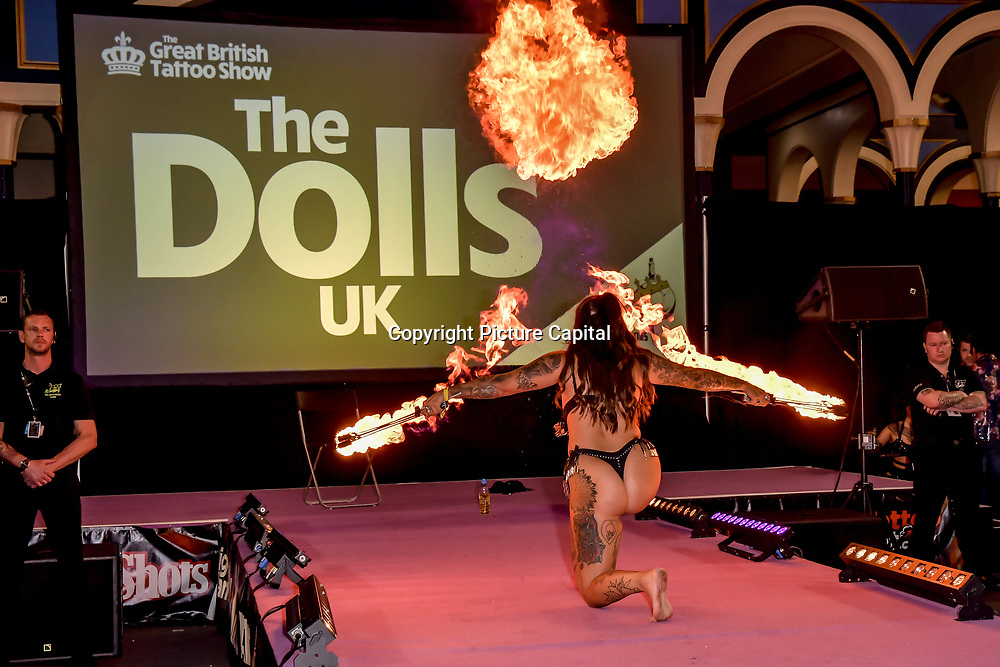 The Doll UK performs at The Great British Tattoo Show, London, UK