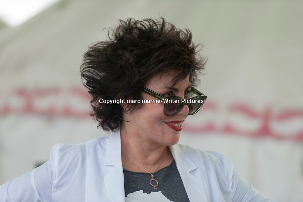 Ruby Wax at Edinburgh International Book Festival 2013<br /> 14th August 2013<br /> <br /> Picture by marc marnie/Writer Pictures<br /> <br /> WORLD RIGHTS