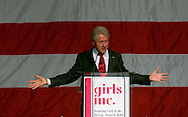 11 Nov 2006 Omaha NE Former President Bill Clinton speaks at a fund raiser for Girls INC. at the Qwest Center Omaha Saturday afternoon. Approximately 3000 people attended the event.  Photo by Chris Machian