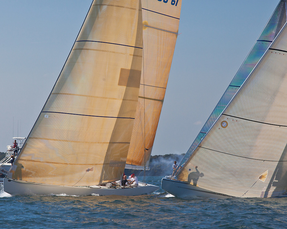 12 Meters Race in the 2012 North American Championship in Newport, RI.