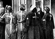 These Jewish women, among many taken from homes in France, Holland, Belgium, Italy and Poland, were freed by the US 9th Army.