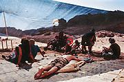 Sunbathing group, Middle East Tek, Wadi Rum, Jordan, 2008