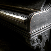 Well worn piano, Green Valley Church.