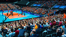 10-08-2019 NED: FIVB Tokyo Volleyball Qualification 2019 / Belgium - Netherlands, Rotterdam<br /> Third match pool B in hall Ahoy between Belgium vs. Netherlands (0-3) for one Olympic ticket / Centercourt Hall view Ahoy