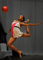 CAPE TOWN, SOUTH AFRICA - Friday 10 October 2014, Michael-Alexandria Damons of KwaZulu Natal (KZN) in the ball routine during the SA Gym Games (gymnastics) held at the Good Hope Centre.<br /> Photo by Roger Sedres