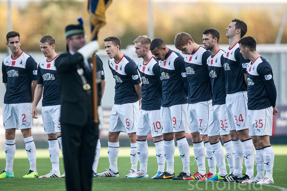 The minutes silence before the game.<br />