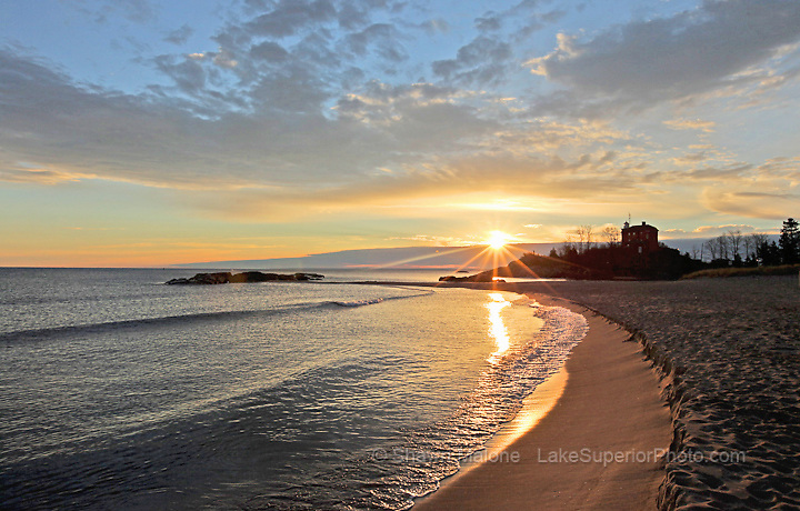 Marquette Lighthouse sunrise lighthouses in the Upper Peninsula of Michigan