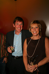 LIVERPOOL, ENGLAND - WEDNESDAY, JUNE 9th, 2005: Kenny Dalglish and wide Marina at the Players Party at the St Thomas Hotel during the 4th Liverbird Developments Liverpool International Tennis Tournament. (Pic by Dave Rawcliffe/Propaganda)