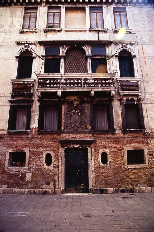 Rustic Building Facade, Venice, Italy