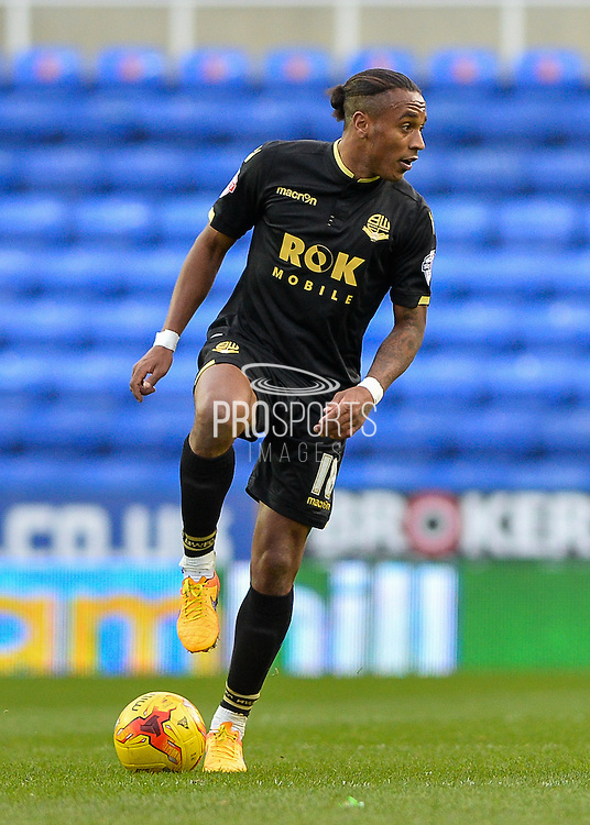 Bolton Wanderers midfielder Neil Danns during the Sky Bet Championship match between Reading and Bolton Wanderers at the Madejski Stadium, Reading, England on 21 November 2015. Photo by Adam Rivers.