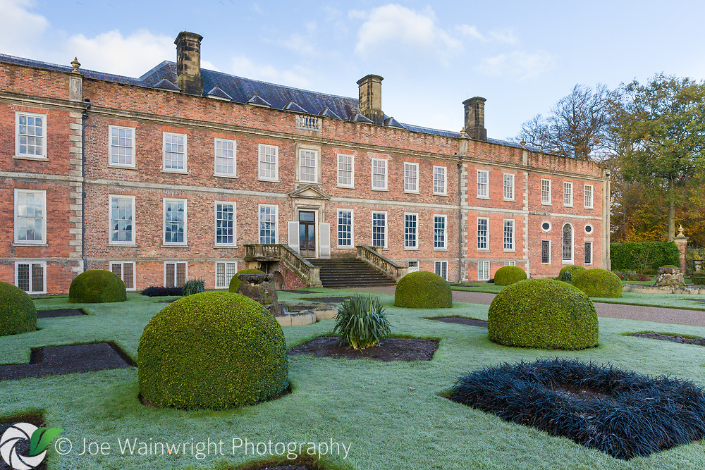 Erddig Hall, viewed from the Victorian Parterre, photographed in November