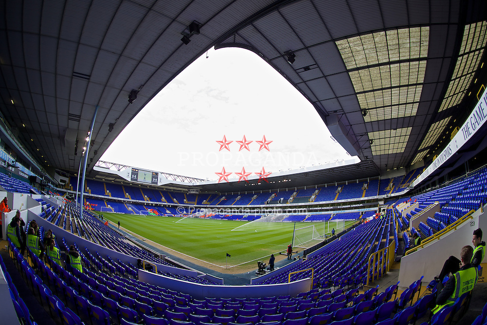 LONDON, ENGLAND - Sunday, February 9, 2014: Tottenham Hotspur's White Hart Lane Stadium before the Premiership match against Everton. (Pic by David Rawcliffe/Propaganda)