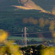 Electricity Pylons cutting across the Lothian countryside jsut outside Edinburgh