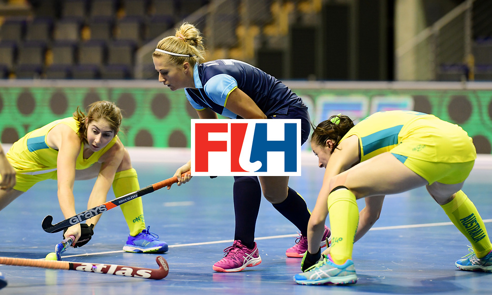 BERLIN - Indoor Hockey World Cup<br /> Women: Ukraine - Australia<br /> foto: <br /> WORLDSPORTPICS COPYRIGHT FRANK UIJLENBROEK