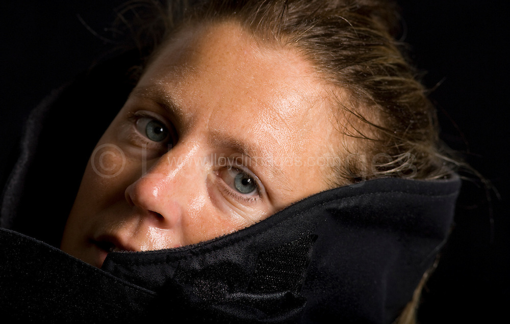 "Portaits of Sam Davies who skippers the IMOCA Open 60 boat Roxy, as she prepares for the Vendee Globe start in November 2008...Davies is one of only two women about to embark on the round the world race in a very male dominated fleet. ..All pictures must be credited ""Lloyd Images"""