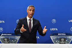 NYON, SWITZERLAND - Friday, July 10, 2020: Former Juventus and Borussia Dortmund player Paulo Sousa during the UEFA Champions League and UEFA Europa League 2019/20 draws for the Quarter-final, Semi-final and Final at the UEFA headquarters, The House of European Football. (Photo Handout/UEFA)