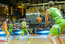 Miha Zupan of Slovenia during friendly basketball match between National teams of Slovenia and Ukraineat day 1 of Adecco Cup 2015, on August 21 in Koper, Slovenia. Photo by Grega Valancic / Sportida