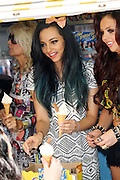 06.MAY.2013. LONDON<br /> <br /> LITTLE MIX SELL ICE CREAM IN SOHO TO PROMOTE THEIR NEW ALBUM<br /> <br /> BYLINE: EDBIMAGEARCHIVE.CO.UK<br /> <br /> *THIS IMAGE IS STRICTLY FOR UK NEWSPAPERS AND MAGAZINES ONLY*<br /> *FOR WORLD WIDE SALES AND WEB USE PLEASE CONTACT EDBIMAGEARCHIVE - 0208 954 5968*