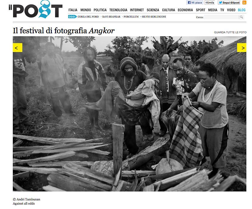 IL Post Italy, 2012.<br /> http://www.ilpost.it/2012/11/27/il-festival-di-fotografia-angkor/andri-tambunan02/