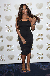 Alexandra Burke attends The Chain Of Hope Ball at The Grosvenor House Hotel on Friday 21st November 2014