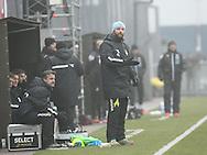 FODBOLD: Cheftræner Christian Lønstrup (FC Helsingør) på sidelinien under træningskampen mellem Helsingborgs IF og FC Helsingør den 4. februar 2017 på Olympiafältet. Foto: Claus Birch