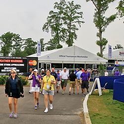 Apr 30, 2016; Avondale, LA, USA; Fans head for shelter a inclement weather approaches during suspension for play of the third round of the 2016 Zurich Classic of New Orleans at TPC Louisiana. Mandatory Credit: Derick E. Hingle-USA TODAY Sports