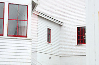 The keeper's cottage and other outbuildings at the Head Harbor (East Quoddy) Lighthouse, Campobello Island, New Brunswick.