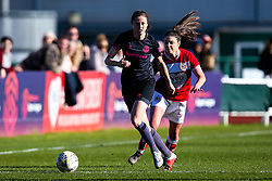 Danielle Turner of Everton Ladies takes on Carla Humphrey of Bristol City - Mandatory by-line: Robbie Stephenson/JMP - 24/03/2019 - FOOTBALL - Stoke Gifford Stadium - Bristol, England - Bristol City Women v Everton Ladies - FA Women's Super League