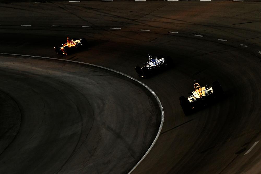 Ryan Hunter-Reay, Andretti Autosport Honda, Scott Dixon, Chip Ganassi Racing Honda, James Hinchcliffe, Schmidt Peterson Motorsports Honda