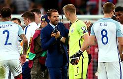 England Manager Gareth Southgate shakes hands with Joe Hart of England - Mandatory by-line: Robbie Stephenson/JMP - 04/09/2017 - FOOTBALL - Wembley Stadium - London, United Kingdom - England v Slovakia - 2018 FIFA World Cup Qualifier