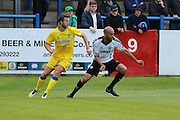 AFC Wimbledon defender Jon Meades (12) during the Pre-Season Friendly match between Dover Athletic and AFC Wimbledon at Crabble Athletic Ground, Dover, United Kingdom on 12 July 2016. Photo by Stuart Butcher.