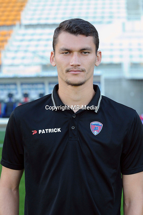 Ludovic AJORQUE of Clermont during the Ligue 2 match between Clermont Foot and RC Strasbourg Alsace at Stade Gabriel Montpied on September 22, 2016 in Clermont-Ferrand, France. (Photo by Jean Paul Thomas/Icon Sport)