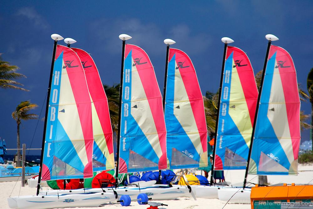 Caribbean, Bahamas, Castaway Cay. Sailing rentals at Castaway Cay.