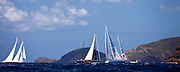 Timoneer, Marie, and Windrose sailing in the Antigua Superyacht Challenge, race two.