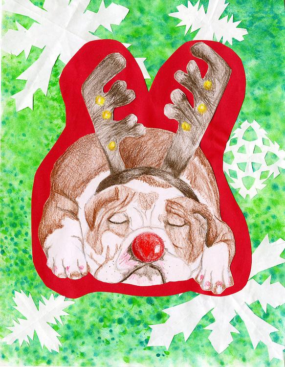 Holiday card designed by Angela Floyd of Lamar High School.