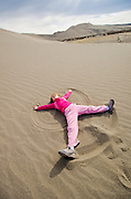 Children playing at Bruneau Sand Dunes State Park.